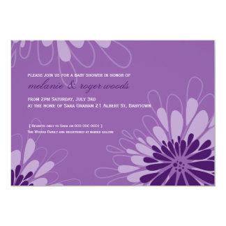 "BABY SHOWER INVITES :: modern bloom 7L 5"" X 7"" Invitation Card"