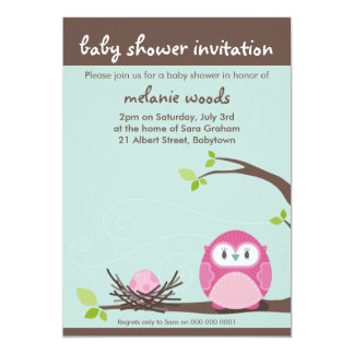 BABY SHOWER INVITES :: owl + nest 2P