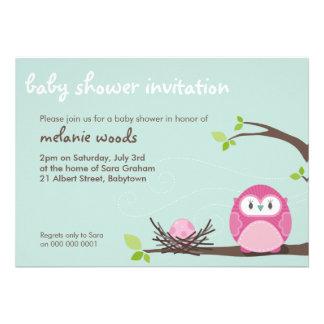BABY SHOWER INVITES owl + nest 3L