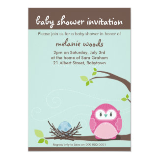 BABY SHOWER INVITES :: owl + nest 4P