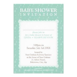 BABY SHOWER INVITES rain drops 5P
