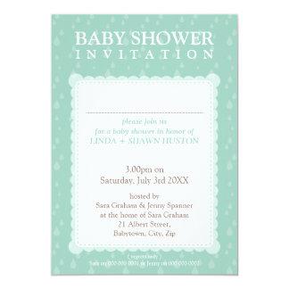 """BABY SHOWER INVITES :: rain drops 5P 5"""" X 7"""" Invitation Card"""