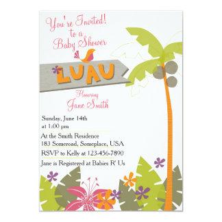 Baby Shower Luau Card