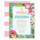 Baby Shower Luau Invitations | Tropical Flowers
