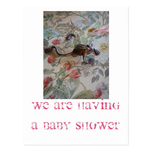BABY SHOWER MAGICAL INVITATION POSTCARD