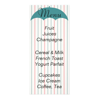 "Baby Shower Menu ""Umbrella Picnic"""