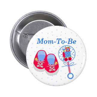 Baby Shower Mummy Pin Button
