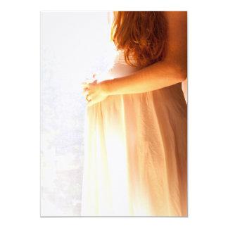 Baby Shower or Announcement: Pregnancy Glow 13 Cm X 18 Cm Invitation Card