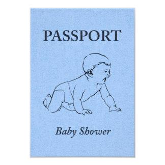 baby shower passport 9 cm x 13 cm invitation card