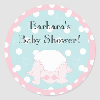 """Baby Shower """"Peek-a-Boo"""" Stickers 1 1/2"""" or 3"""""""