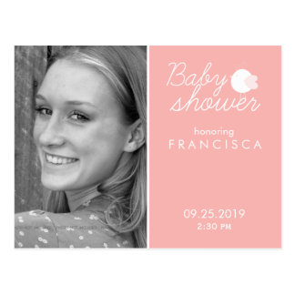 Baby Shower Photo Invitations with Bird Postcards