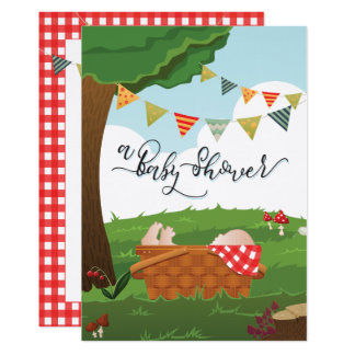 Baby Shower Picnic/BBQ/Woodland Card