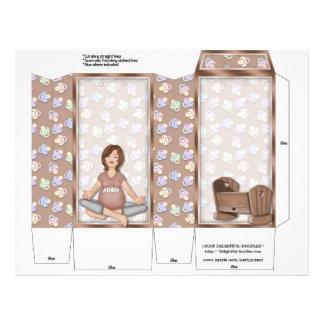 Baby Shower Pinch Box Party Favors Pregnant 21.5 Cm X 28 Cm Flyer