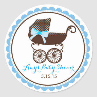 Baby Shower Pram Stickers