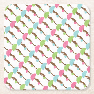 baby-shower- pregnant mom to be square paper coaster