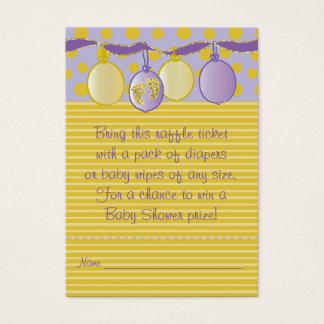 Baby Shower Raffle Ticket/Baby Footprints Business Card