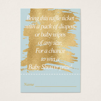 Baby Shower Raffle Ticket/Classic Blue/Gold Business Card