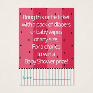 Baby Shower Raffle Ticket/Umbrella Watermelon Business Card