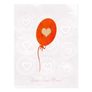 Baby Shower Red Balloon Card
