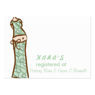 Baby Shower registration card Pack Of Chubby Business Cards