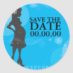 Baby Shower Save the Date Round Sticker