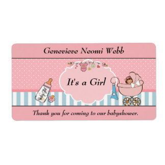 Baby shower shipping label