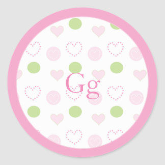 """Baby Shower """"Sugar & Spice"""" Stickers 1 1/2"""" or 3"""""""