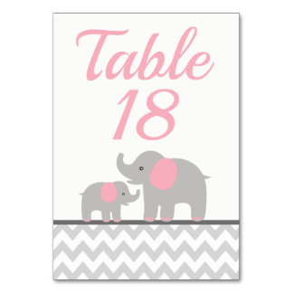 Baby Shower Table Number Cards | Custom Template