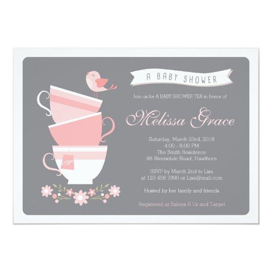 baby shower tea invitation    high tea baby shower
