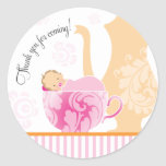 Baby Shower Tea Party Favour Sticker     Girl