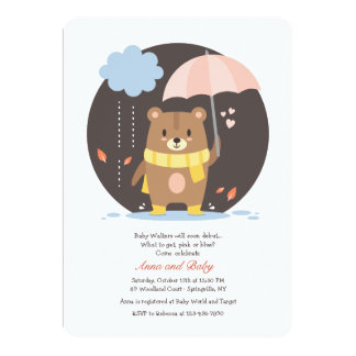 Baby Shower Teddy Bear Invitation
