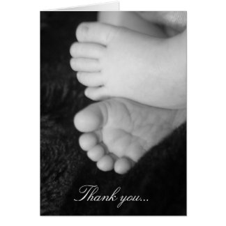 Baby shower thank-you card