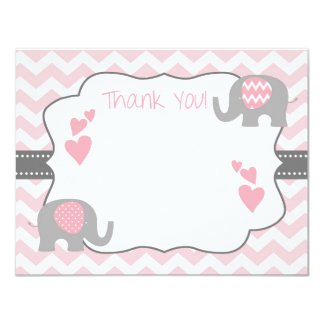 Baby Shower Thank You Card, Elephant Baby Shower Card