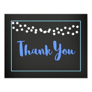 Baby Shower Thank You Card in blue | BBQ Baby Beer