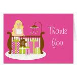 Baby Shower Thank You Card Pink