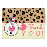 Baby Shower Thank You - Leopard Print & Diaper Pin