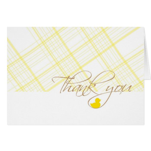 Baby Shower Thank You - Rubber Ducky Cards