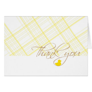 Baby Shower Thank You - Rubber Ducky Note Card