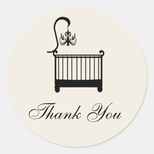 Baby Shower Thank You Sticker
