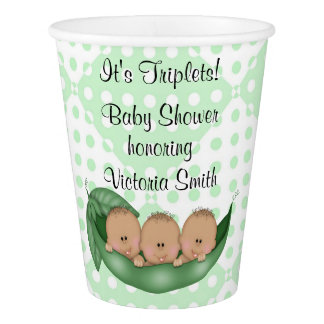 Baby Shower Triplets Peas in a Pod Paper Cup