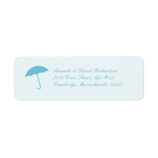 Baby Shower Umbrella Return Address Labels