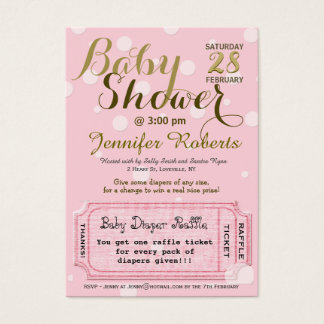 Baby Shower with Diaper Raffle Ticket