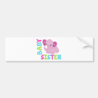 Baby Sister Elephant Bumper Sticker