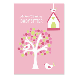 Baby Sitter Sitting Birds Business Card Template