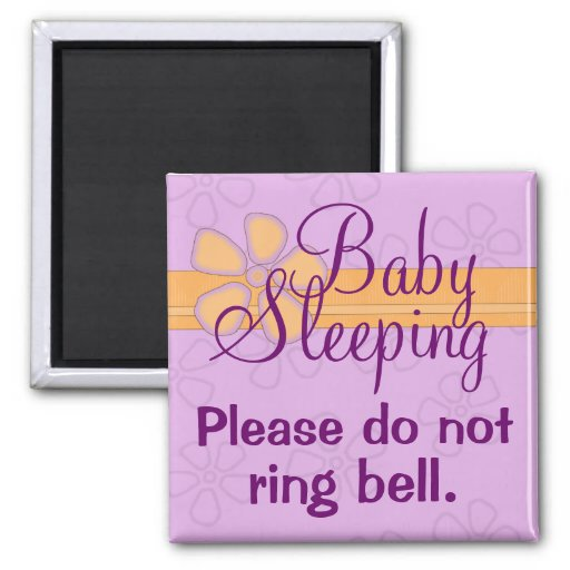 Baby Sleeping front door sign magnet Fridge Magnet