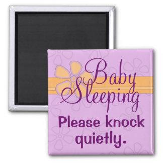 Baby Sleeping front door sign Square Magnet