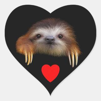 Baby Sloth Heart Sticker