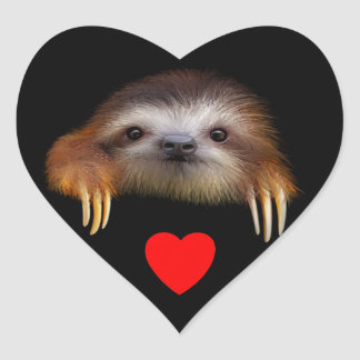 Baby Sloth Heart Stickers