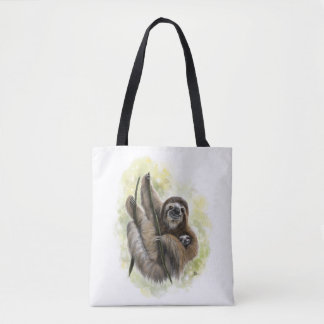 Baby Sloth Tote Bag