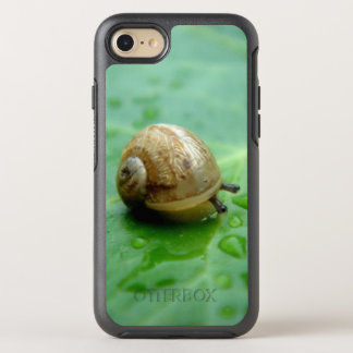 Baby Snail On Leaf With Waterdrops OtterBox Symmetry iPhone 7 Case